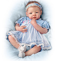 Dry Your Tears, Little One Teary-Eyed Realistic Baby Doll