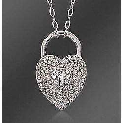 Swarovski Crystal Heart Locket Motif Pendant Necklace