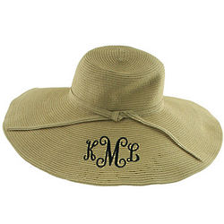 Tan Personalized Sun Hat