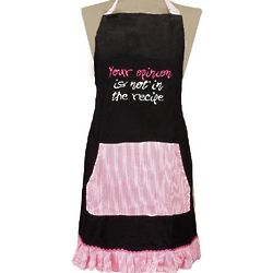 Your Opinion is Not in the Recipe Apron
