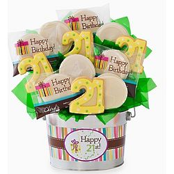 Happy 21st Birthday Cookie Bouquet