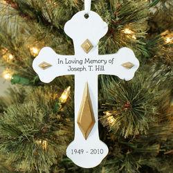 In Loving Memory Engraved Cross Ornament