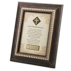 God's Faithful Servant Framed Blessing