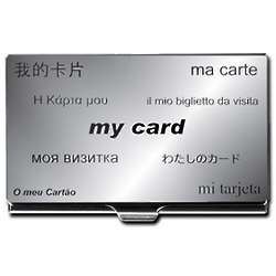 Personalized Multi-Lingual Design Business Card Case