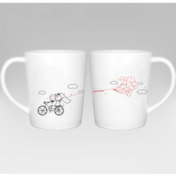 Forever and Ever Bride and Groom Mugs