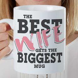 Personalized Best Wife Oversized Coffee Mug