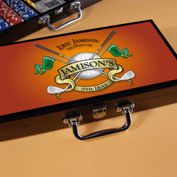 Personalized Golf Design Poker Set