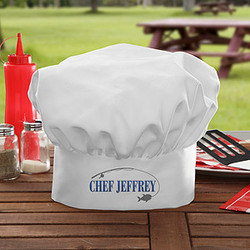 Hook 'Em & Cook 'Em Personalized Chef Hat