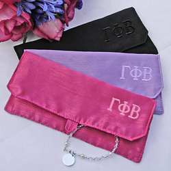 Greek Personalized Silk Jewelry Pouches