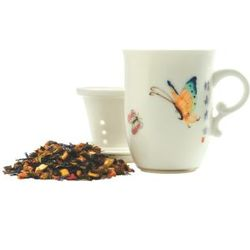 Flight of the Butterfly Porcelain Infuser Tea Mug