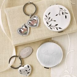 Nature's Love Engraved Compact and Locket Key Chain