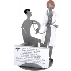 Female Doctor Business Card Holder
