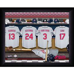 Personalized Cleveland Indians MLB Locker Room Framed Print
