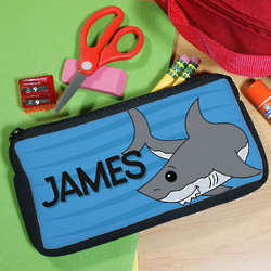 Personalized Shark Pencil Case