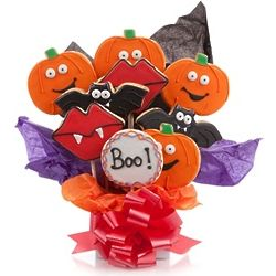 Iced Halloween Cookie Bouquet