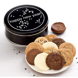 Happy New Year Assorted Cookies Gift Tin