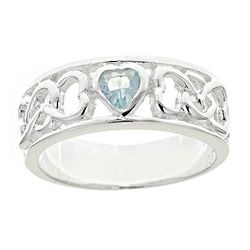 Sterling Silver Birthstone Purity Ring