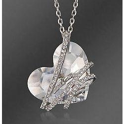 Swarovski Crystal Heart Pendant Necklace