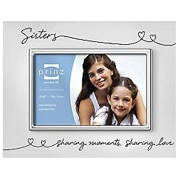Sisters Linked Hearts Silver Frame