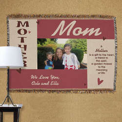 Personalized Mother Photo Throw Blanket