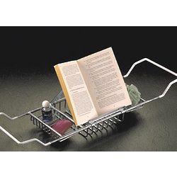 Chrome Bathtub Caddy with Reading Rack