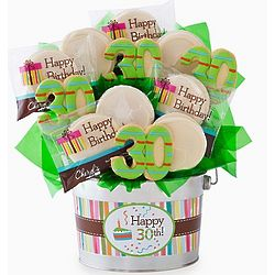 Happy 30th Birthday Cookie Flower Pot