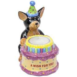 A Birthday Wish For You Dog Tea Light Holder