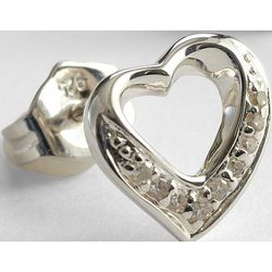 Diamond Crusted Heart Earrings