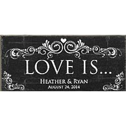 Personalized Love Is Canvas Wall Art
