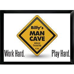 Man Cave Work Hard Play Hard Pub Sign