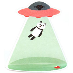 UFO Panda Abduction Stand Up Sticky Notes