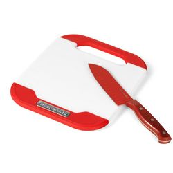 Nonslip Cutting Board with Santoku Knife