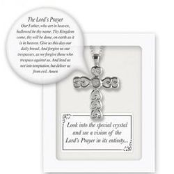 Our Father Prayer Cross Pendant