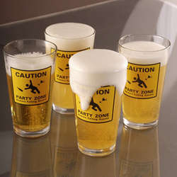 Party Zone 15 Oz. Beer Glasses