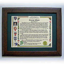 Irish County History Framed Print