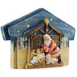 Kneeling Santa Stable Puzzle Scene