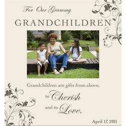 Personalized Grandchildren Are Gifts From Above Photo Frame