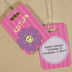 Personalized Flower Luggage Tag