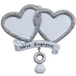 We're Engaged! Personalized Christmas Ornament