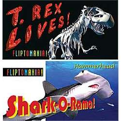 T-Rex and Shark Flip Books