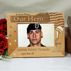 Engraved Military Memorial Picture Frame