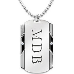 For My Son Personalized Dog Tag Pendant