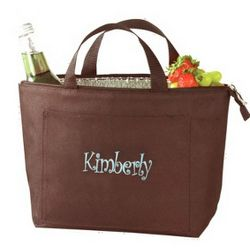Insulated Brown Lunch Tote