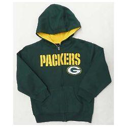 Green Bay Packers Youth Full Zip Hoodie
