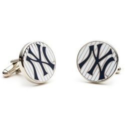 New York Yankee Pinstripe Cuff Links