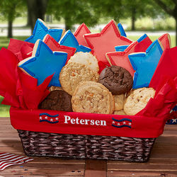 Personalized Patriotic Pride Cookie Gift Basket