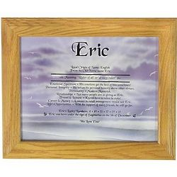 Personalized Meaning of Your Name Framed Print