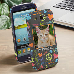 Peace, Love, Cats Samsung Galaxy 3 Cell Phone Hardcase