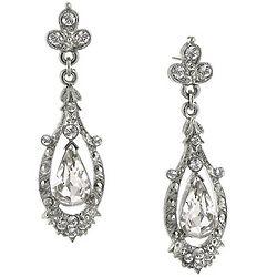 Downton Abbey Filigree Crystal Earrings