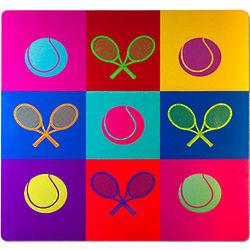 Tennis Pop Art Aluminum Print